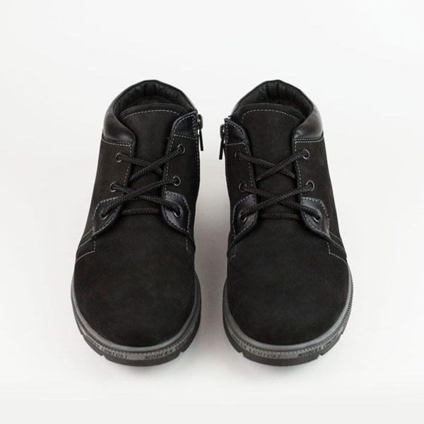 ботинки зимние мужские, нубук
